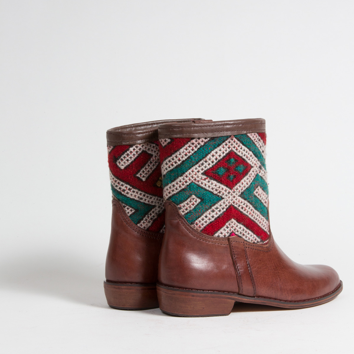 Bottines Kilim cuir mababouche artisanales (Réf. CB4-40)