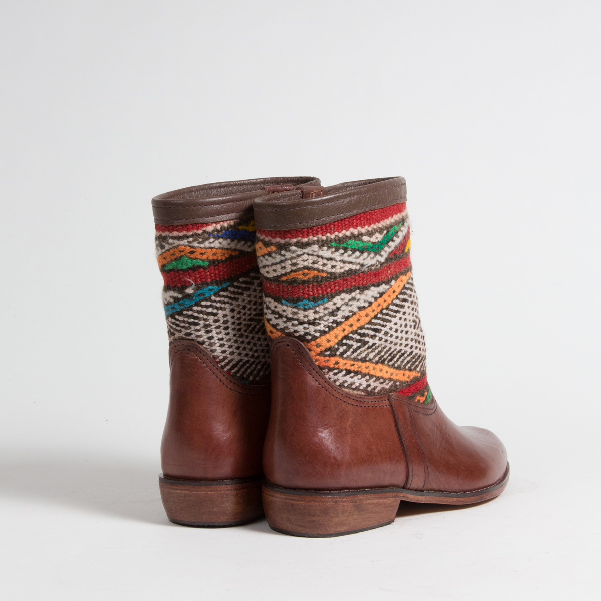 Bottines Kilim cuir mababouche artisanales (Réf. MCM7-40)