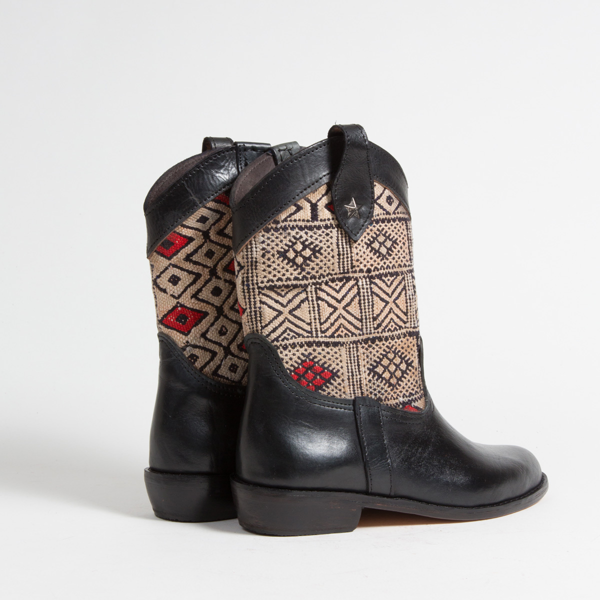 Bottines Kilim cuir mababouche artisanales (Réf. MN13-40)
