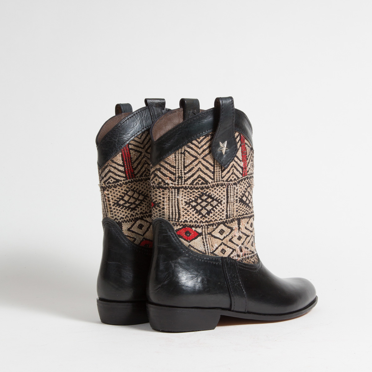 Bottines Kilim cuir mababouche artisanales (Réf. MN15-41)