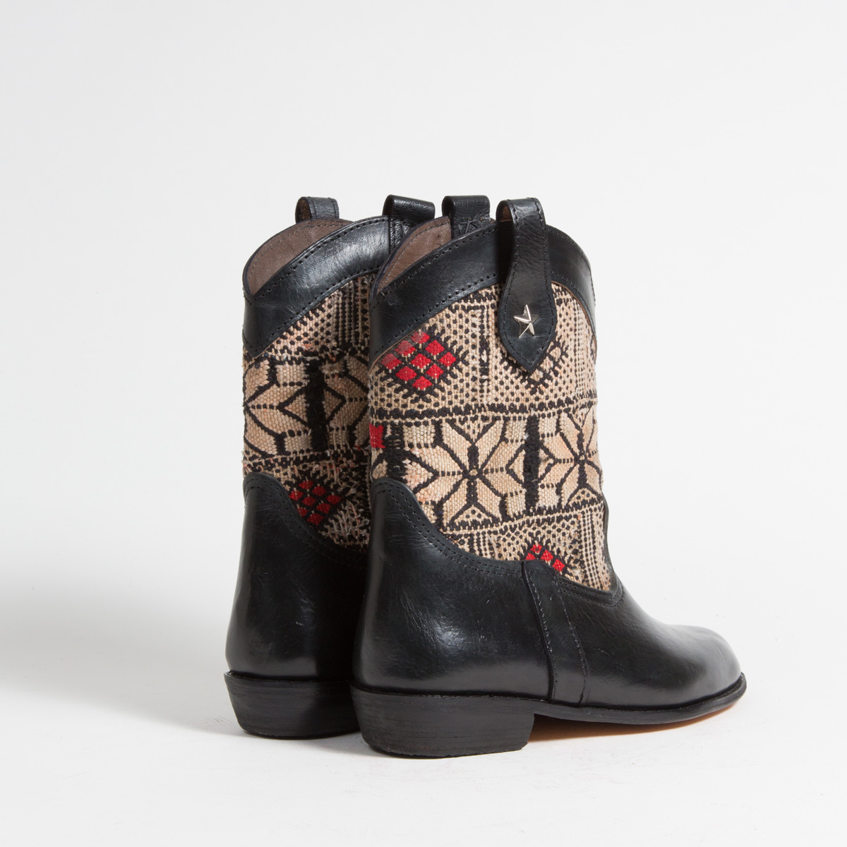 Bottines Kilim cuir mababouche artisanales (Réf. MN9-39)