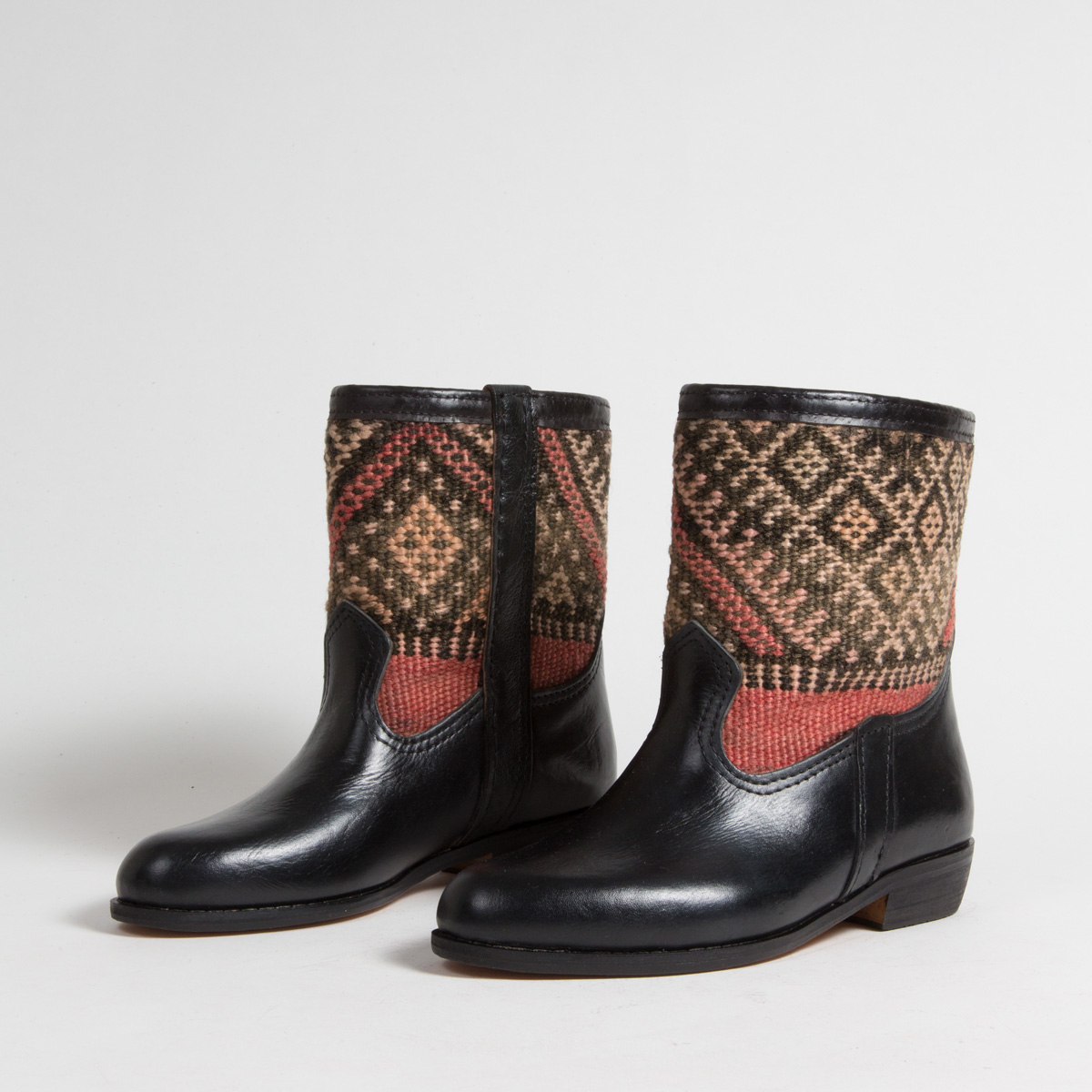 Bottines Kilim cuir mababouche artisanales (Réf. RPN10-38)