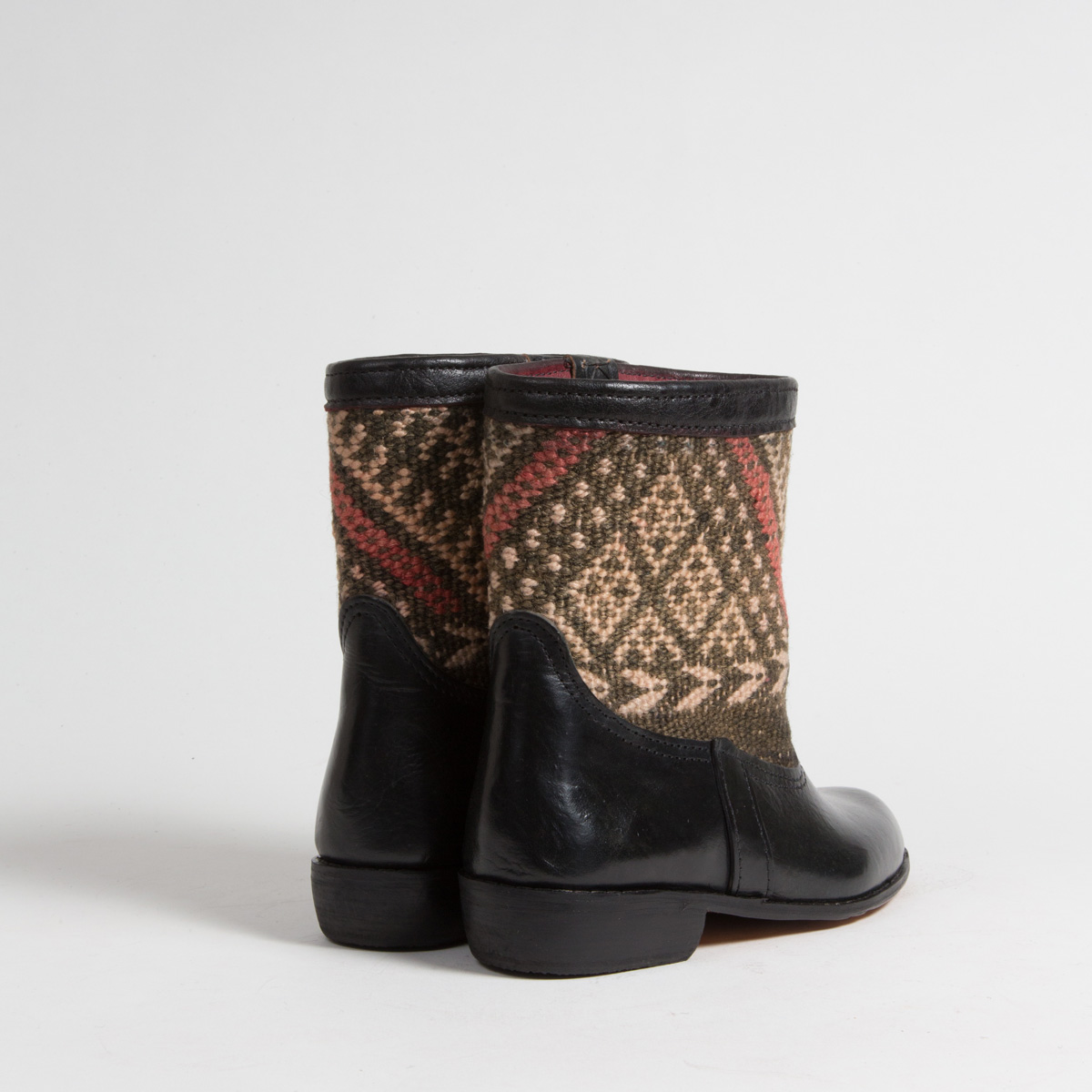 Bottines Kilim cuir mababouche artisanales (Réf. RPN12-38)