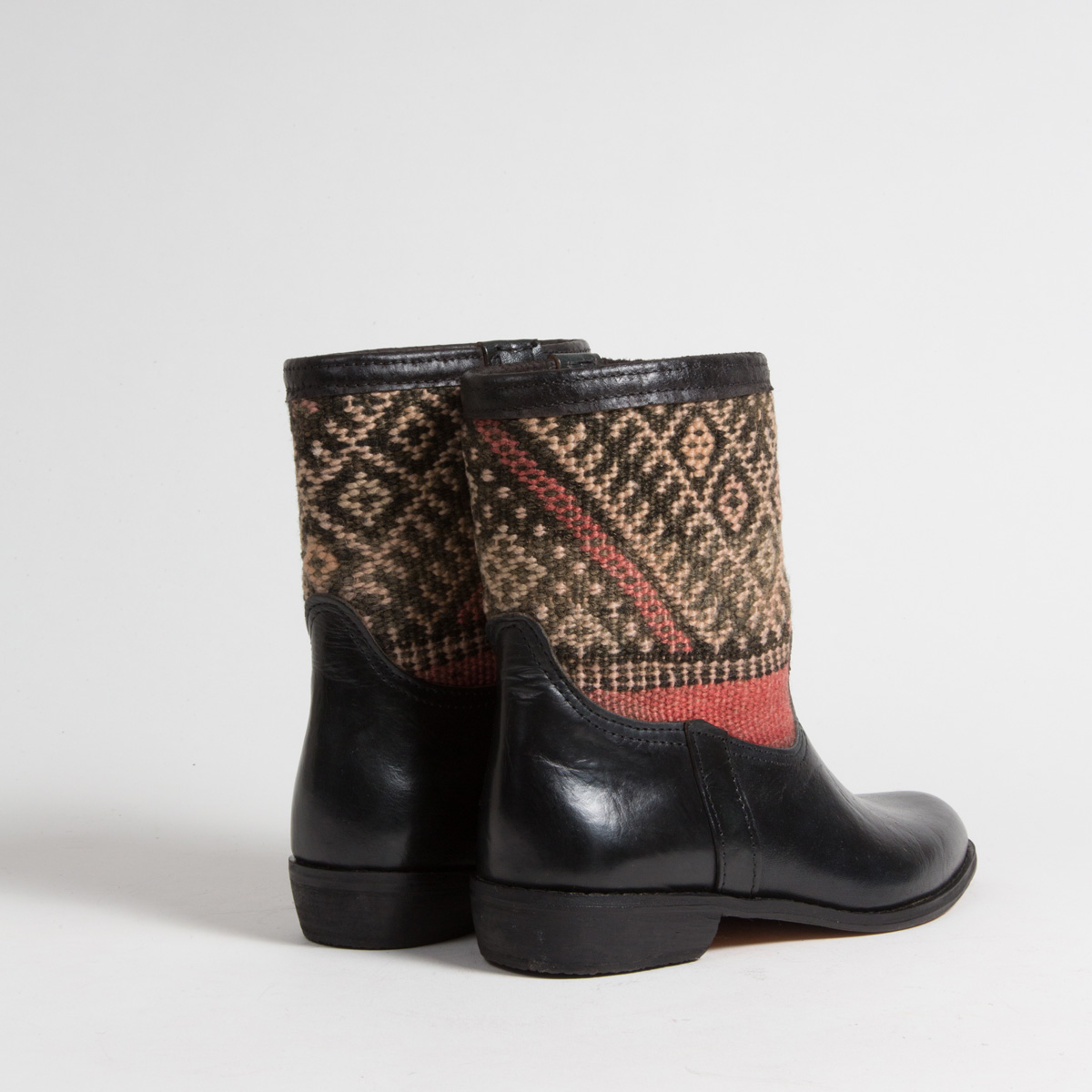 Bottines Kilim cuir mababouche artisanales (Réf. RPN13-39)