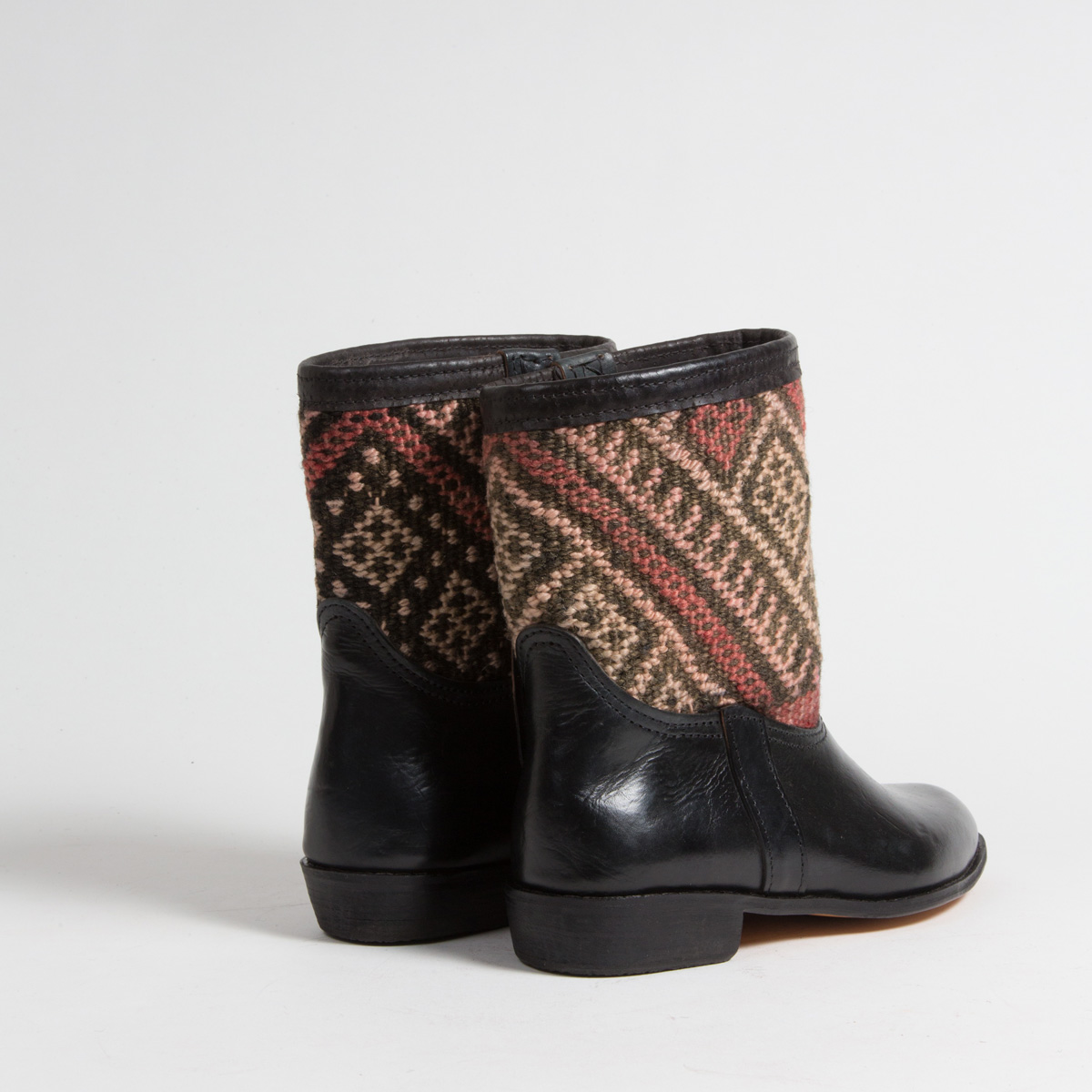 Bottines Kilim cuir mababouche artisanales (Réf. RPN15-39)