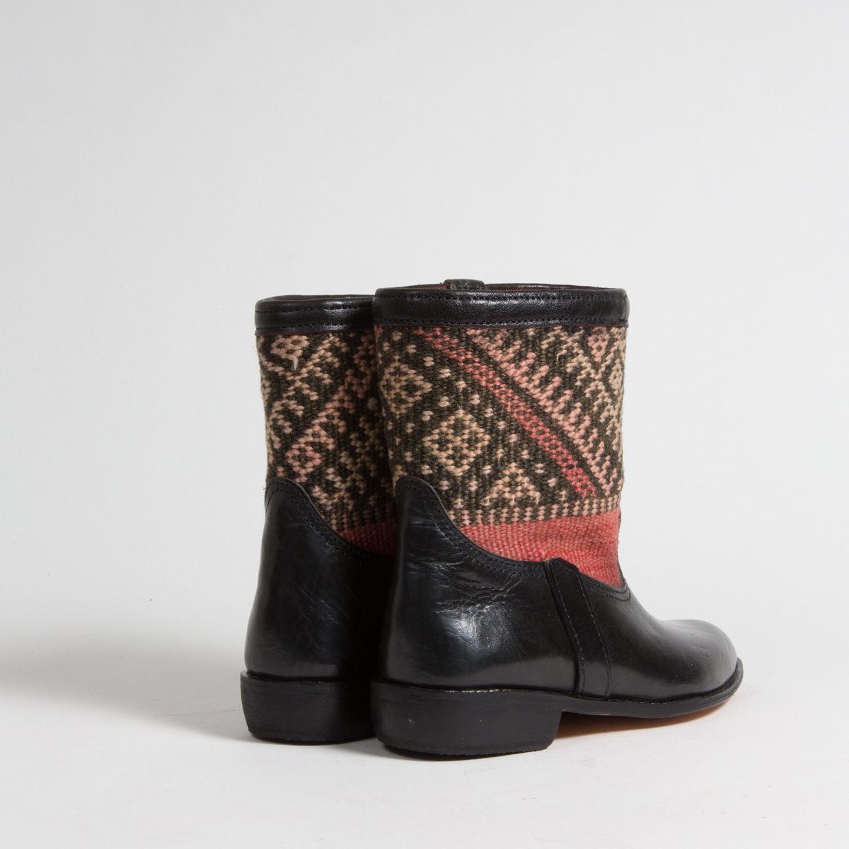 Bottines Kilim cuir mababouche artisanales (Réf. RPN16-39)