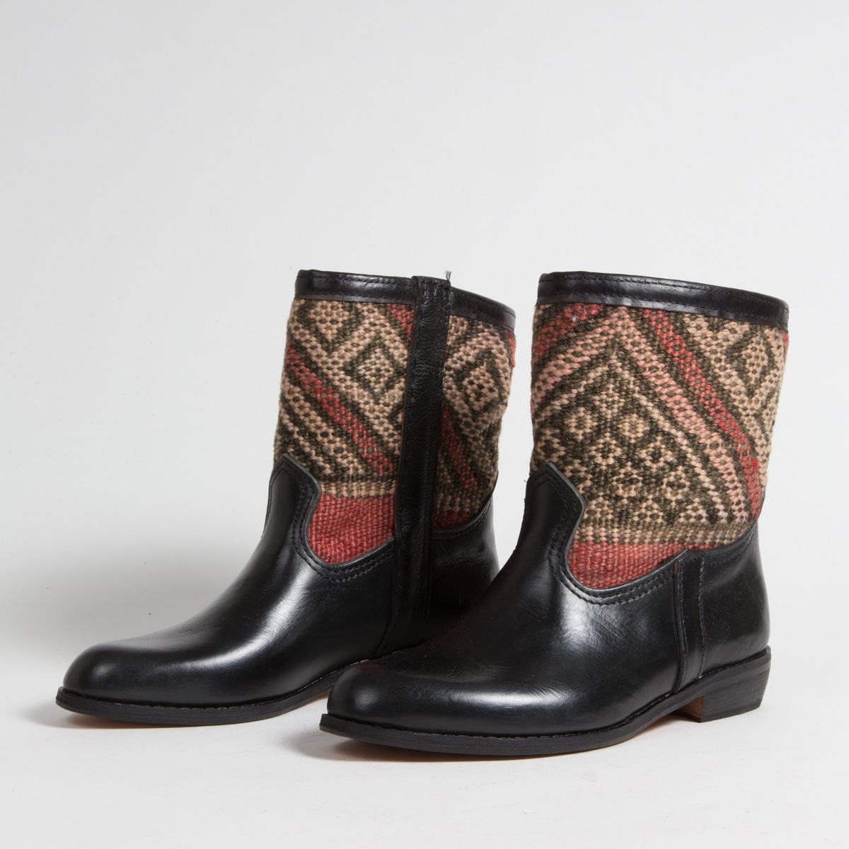 Bottines Kilim cuir mababouche artisanales (Réf. RPN20-40)