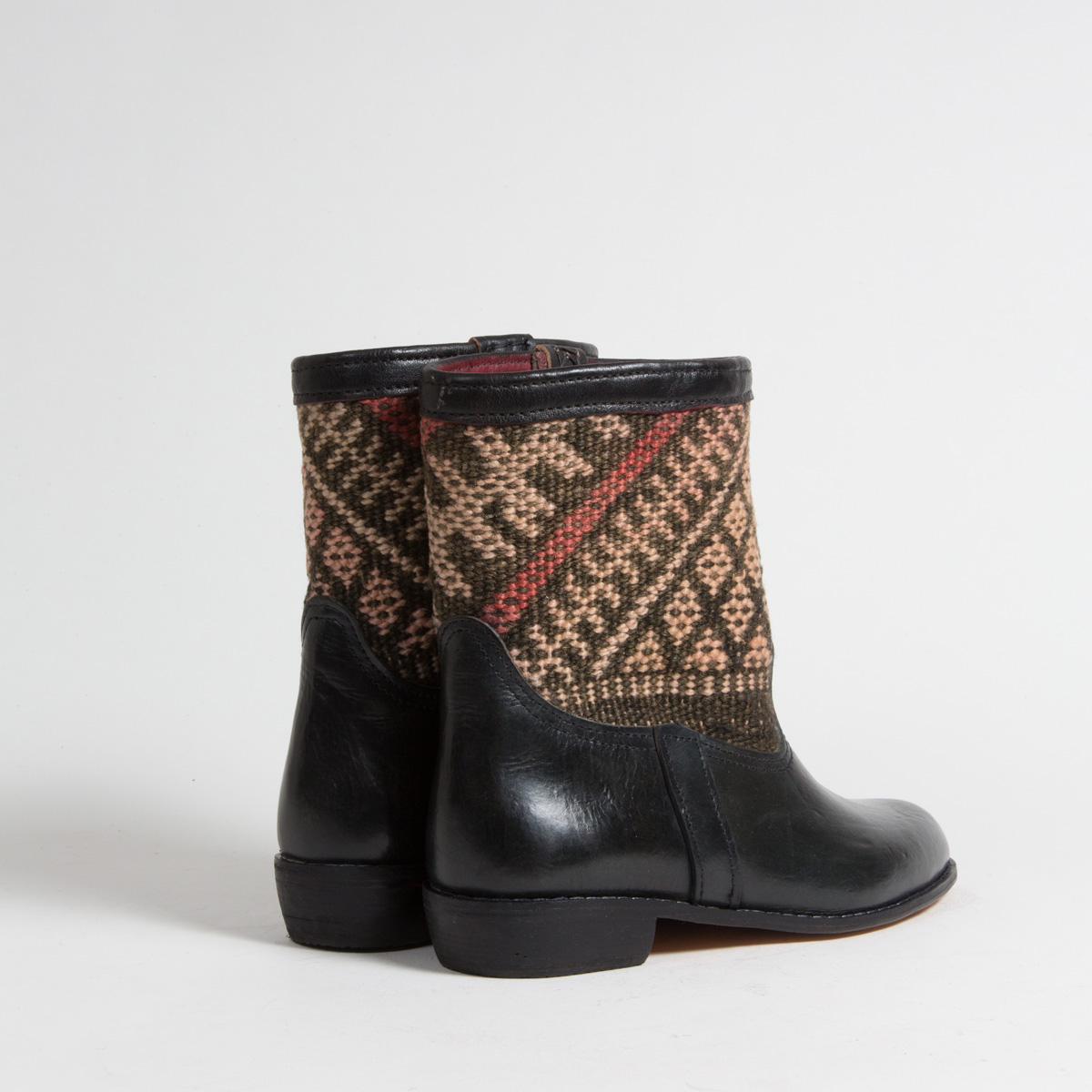 Bottines Kilim cuir mababouche artisanales (Réf. RPN22-40)