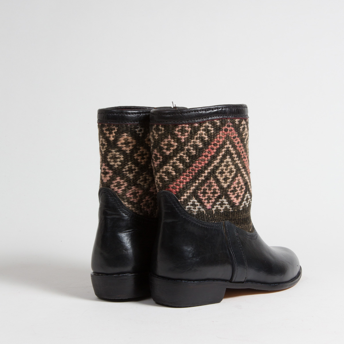 Bottines Kilim cuir mababouche artisanales (Réf. RPN24-40)