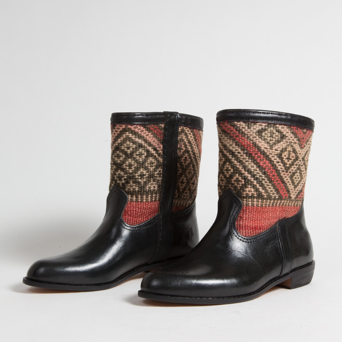 Bottines Kilim cuir mababouche artisanales (Réf. RPN26-41)