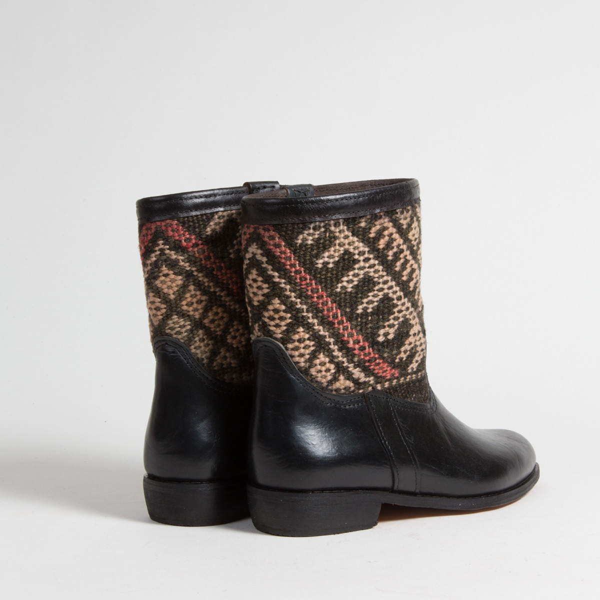 Bottines Kilim cuir mababouche artisanales (Réf. RPN27-41)