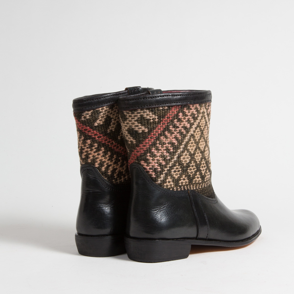 Bottines Kilim cuir mababouche artisanales (Réf. RPN28-41)