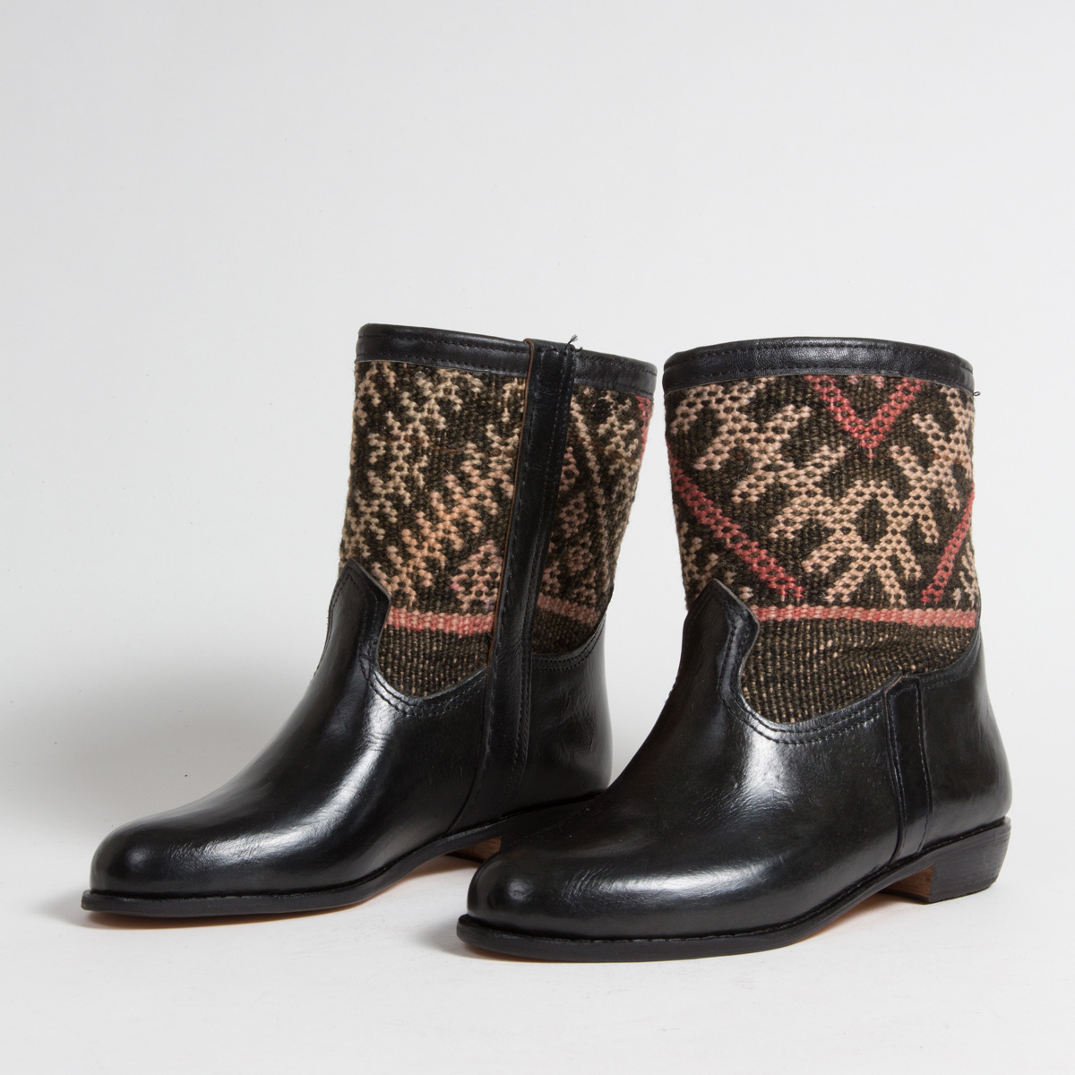 Bottines Kilim cuir mababouche artisanales (Réf. RPN31-42)