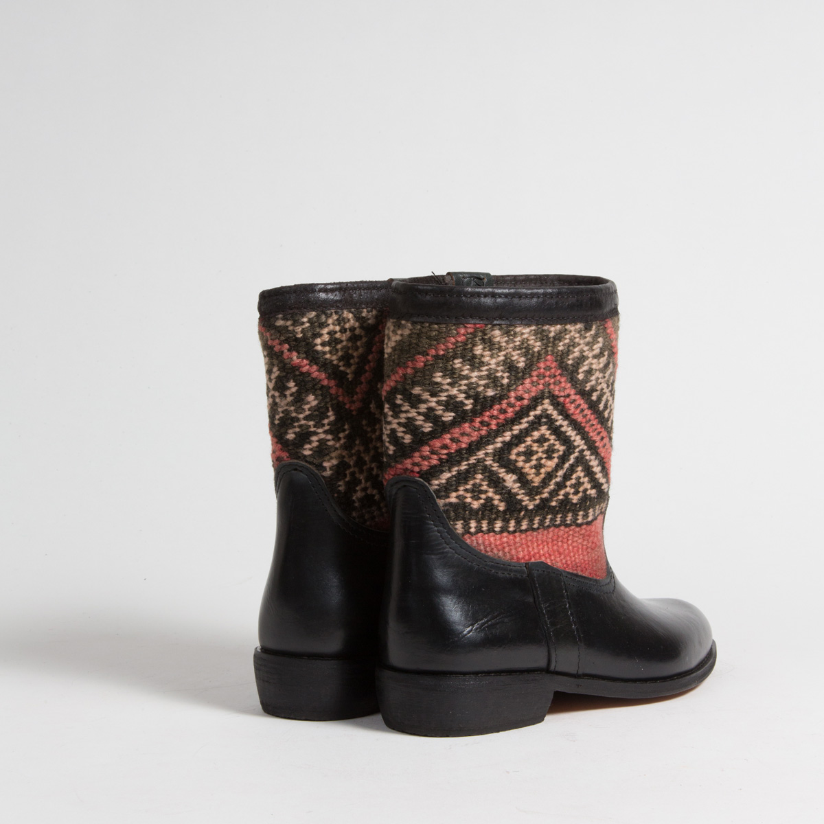 Bottines Kilim cuir mababouche artisanales (Réf. RPN5-37)