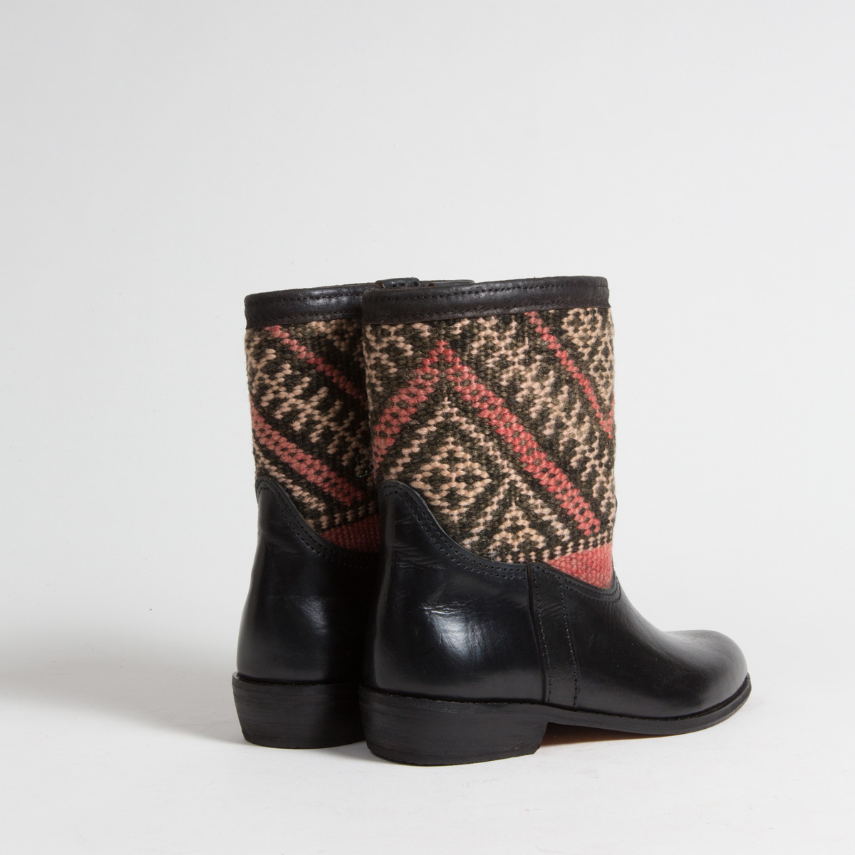 Bottines Kilim cuir mababouche artisanales (Réf. RPN7-38)
