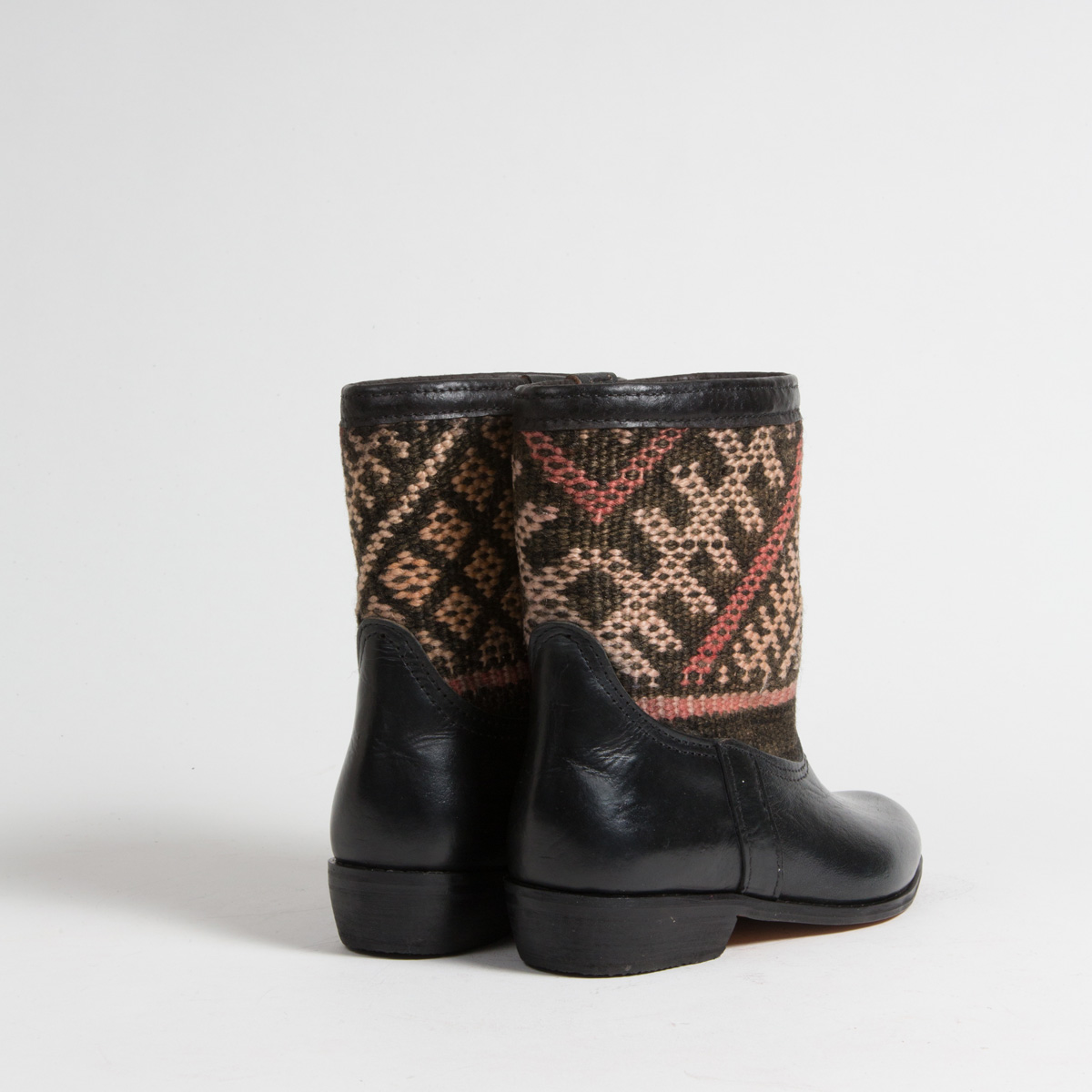 Bottines Kilim cuir mababouche artisanales (Réf. RPN9-38)